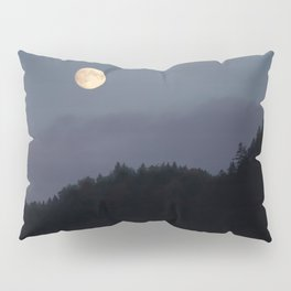 Moon over Hill #nature #buyartprints #minimalism #society6 Pillow Sham