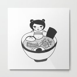 Send Noods Metal Print