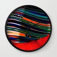 rave Wall Clocks featuring Rave by Neelie