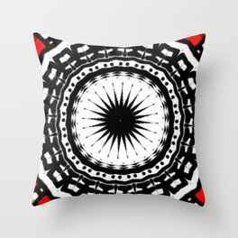 Red Black Fight Throw Pillow
