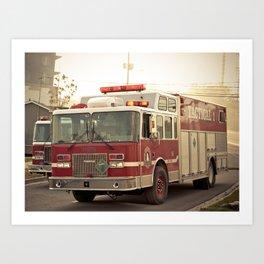 Fire Scene Art Print
