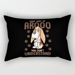 basset Hound, basset Hound basset, Hound Rectangular Pillow