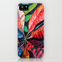 Colorful Tropical Leaves 2 iPhone Case