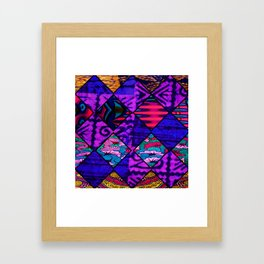 Purple tribal African Print Framed Art Print