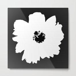 White Peony Metal Print