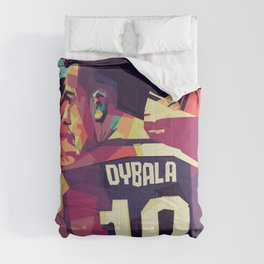 Paulo Dybala on WPAP Pop Art Portrait Comforters