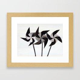 WHITEOUT:  pinwheeling around Framed Art Print