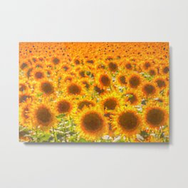 Sunflower Abstract Dreams Metal Print