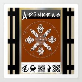 Adinkra Symbol Tote Bag Art Print