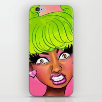 nicki iPhone & iPod Skins featuring Pink Face by KeishaC
