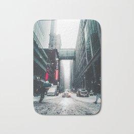 New york under the snow Bath Mat