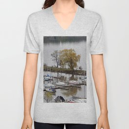 Weeping Willow and the Marina Unisex V-Neck