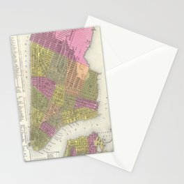 Vintage Map of New York City (1848) Stationery Cards