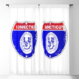 Connecticut  Interstate Sign Blackout Curtain