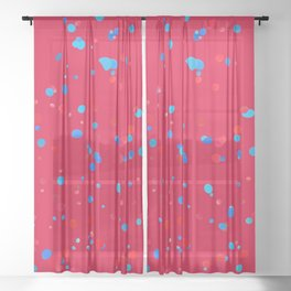 Geometric Abstract Colorful Art Retro Pattern Sheer Curtain