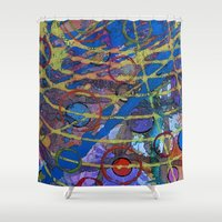 grid Shower Curtains featuring Grid by Heather Plewes Art