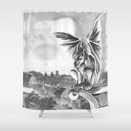 Gargoyle Night Shower Curtain