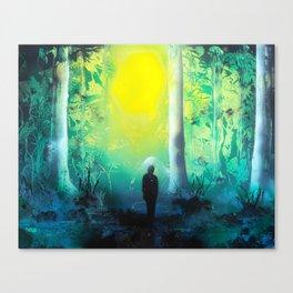 Emerald Forrest- Spray Paint Art Canvas Print