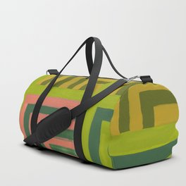 Painted Color Block Squares Duffle Bag
