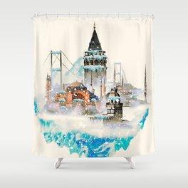 Istanbul landscape Shower Curtain