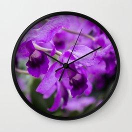 purple flowers • nature photography Wall Clock