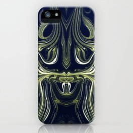 Blue Oil Gestalt Abstract IV iPhone Case