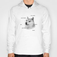 doge Hoodies featuring Fashion Doge by AMAG
