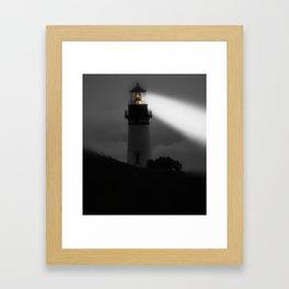Newport Oregon - Ship Navigation Framed Art Print