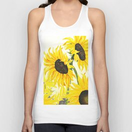 sunflower watercolor 2017 Unisex Tank Top