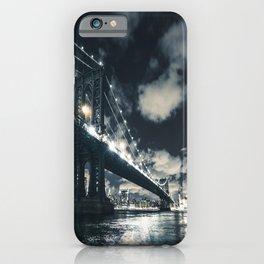 manhattan bridge in nyc iPhone Case