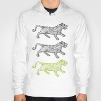 tigers Hoodies featuring Three Tigers by YAP9