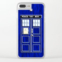 Tardis Time Clear iPhone Case