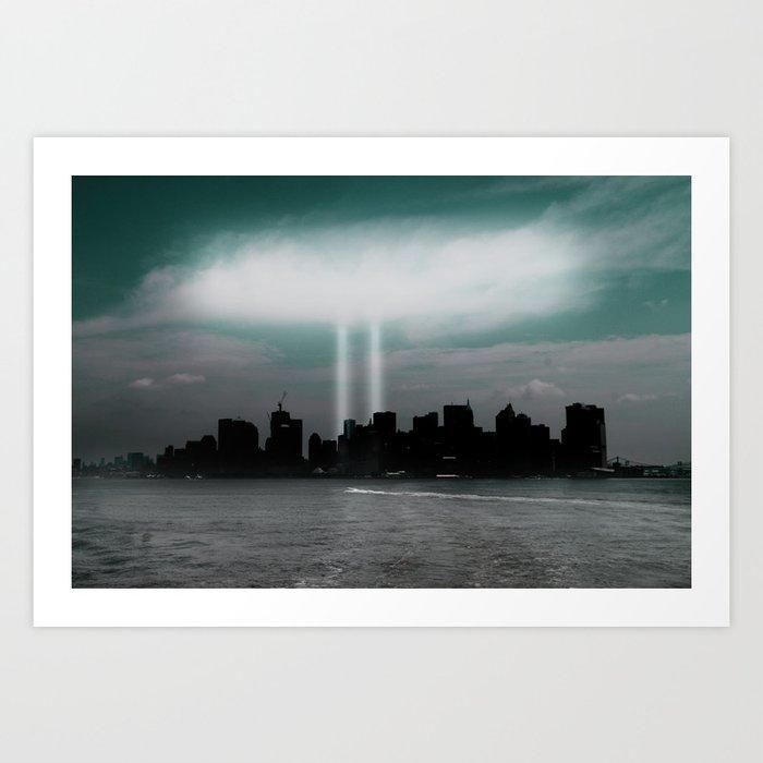 Renewal - New York City skyline Art Print
