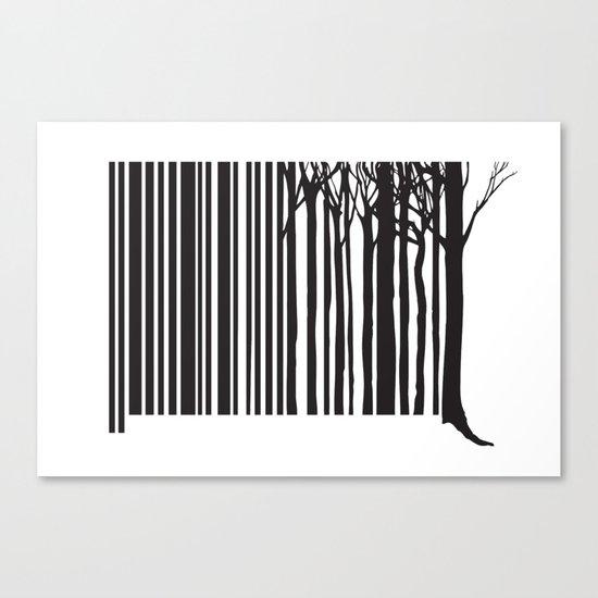 Treecode Canvas Print