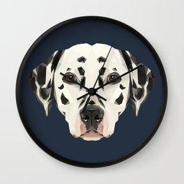 Dalmatian // Navy Wall Clock
