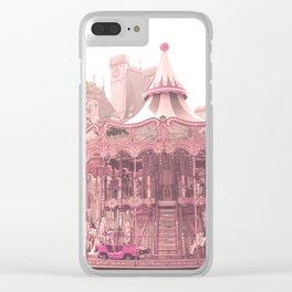 Paris Nursery, Blush, Carousel Clear iPhone Case