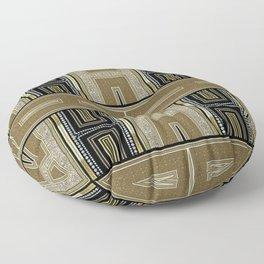 Gold Black Glam ArtDeco X5 Floor Pillow
