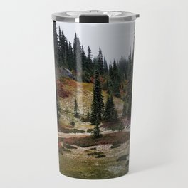 Light Snow on Mountain Meadow Travel Mug