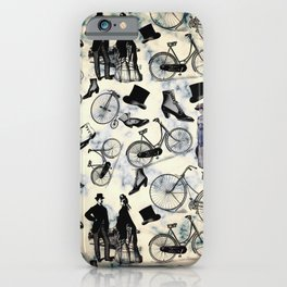 Victorian Bicycles and Fashion iPhone Case