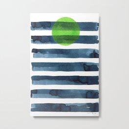 Luna verde Metal Print