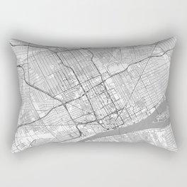 Detroit Map Line Rectangular Pillow