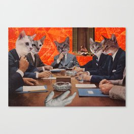 Cats have an agenda Canvas Print