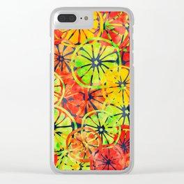 Summer Lemons Clear iPhone Case
