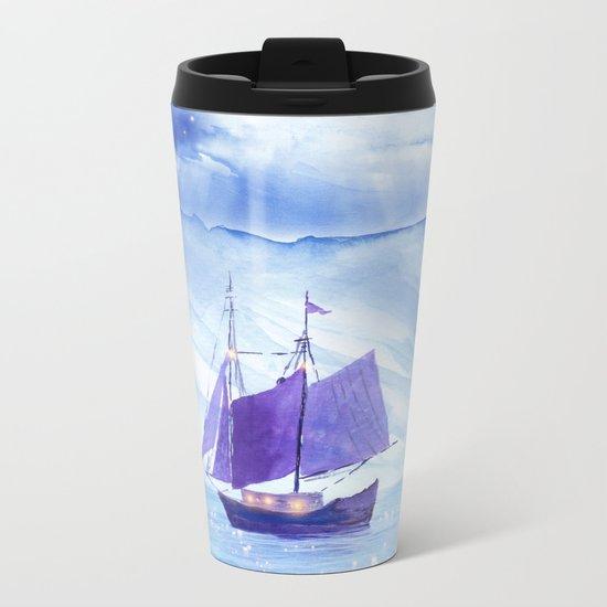 Sailing in Winter Metal Travel Mug
