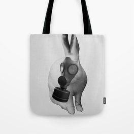 gas mask rabbit Tote Bag