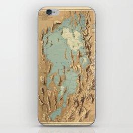 Map Of Lake Bonneville 1900 iPhone Skin