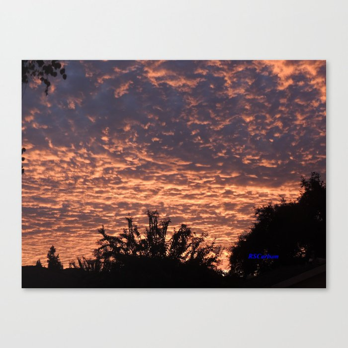 atmospherics number 2 sunset from costco san dimas canvas print by