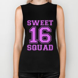 sweet 16 squad gym t-shirts Biker Tank
