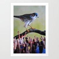 it crowd Art Prints featuring Crowd by John Turck
