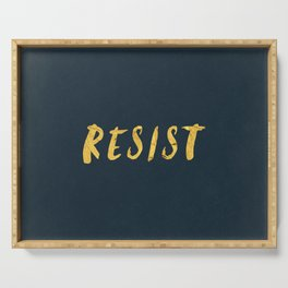 RESIST 6.0 - Freedom Gold on Navy #resistance Serving Tray